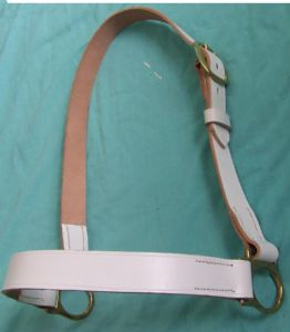 Heavy Horse White Leather Show Halter